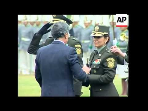 Uribe promotes first woman to the rank of general