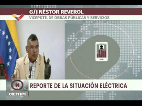 Apagones este domingo se deben a ataques al Sistema Eléctrico, denunció Néstor Reverol