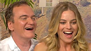 Once Upon A Time... In Hollywood - Tarantino, Robbie, DiCaprio & Pitt interview (2019)