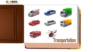 Educational Videos for Children All Transportation Flashcards.