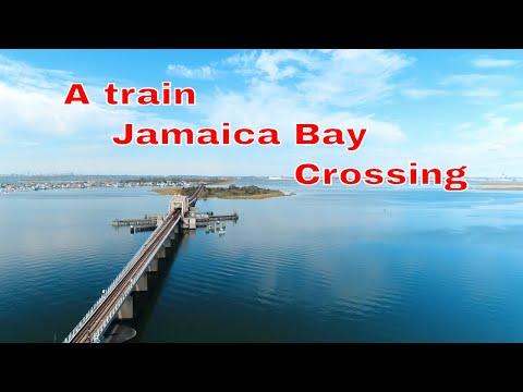 A TRAIN JAMAICA BAY CROSSING