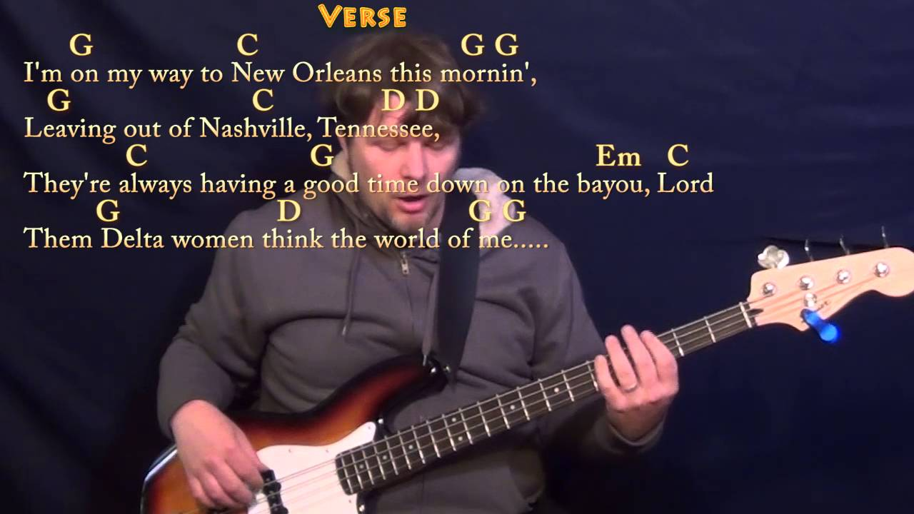 Ramblin Man Allman Brothers Bass Guitar Cover Lesson In G With