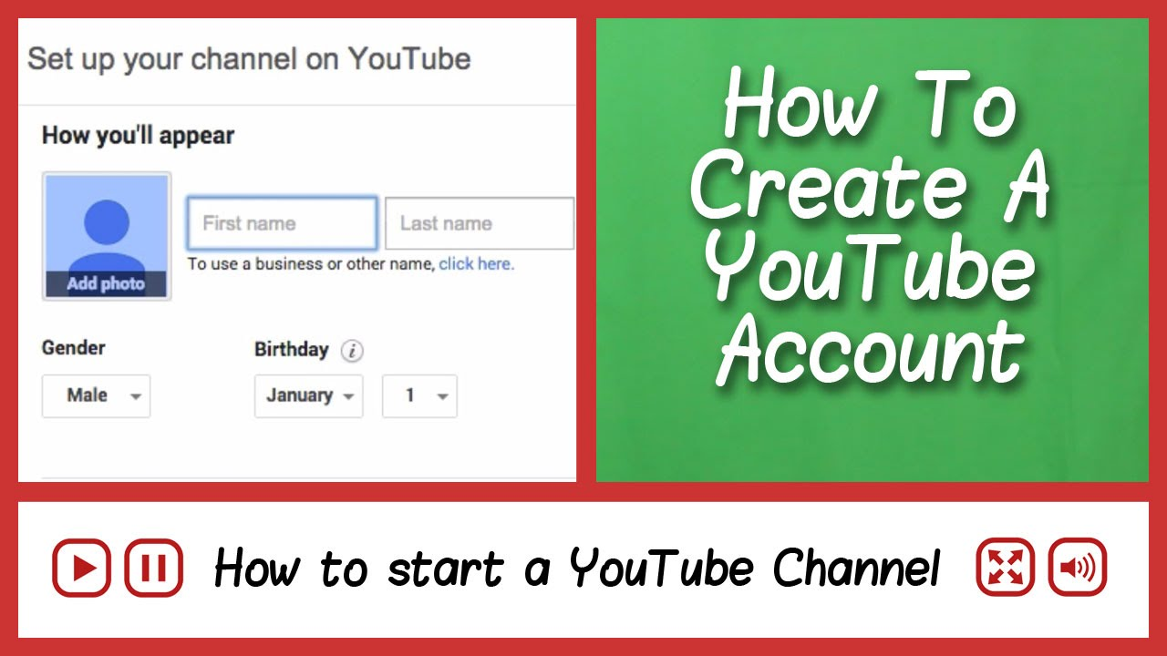 how to open a youtube channel and earn money make a youtube account how to start a youtube channel 9585