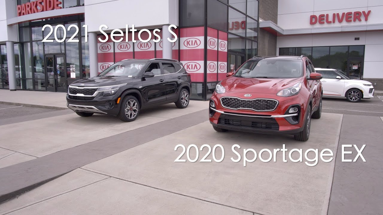 2021 seltos s vs 2020 sportage exkia comparisonparkside