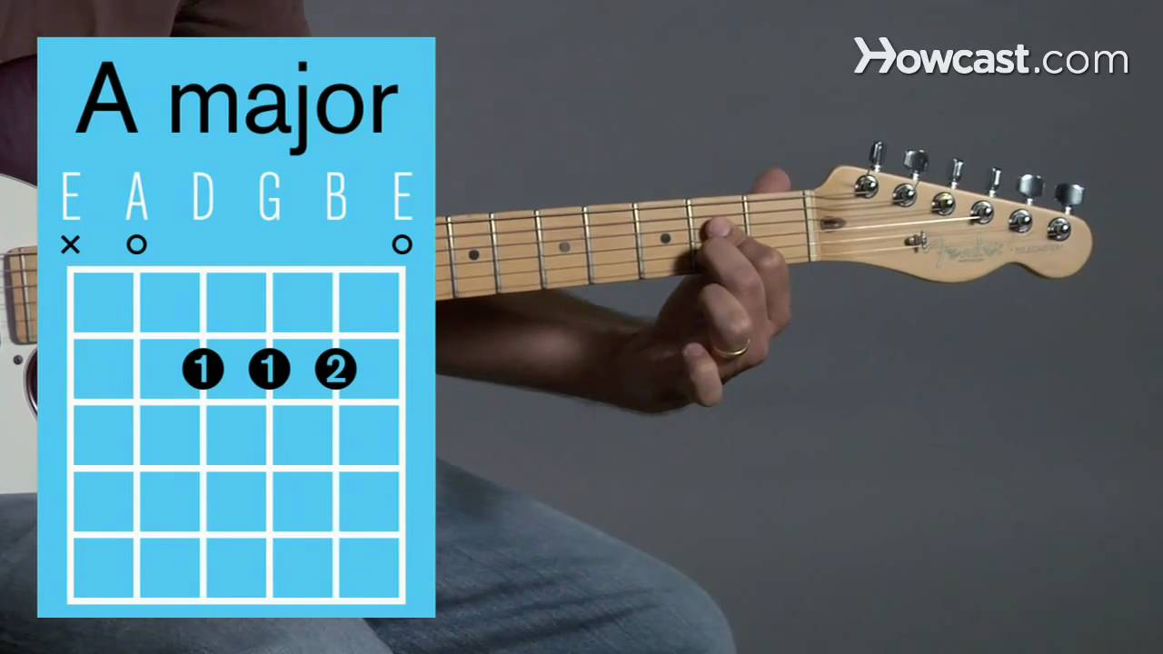 How To Play An A Major Open Chord Guitar Lessons Youtube