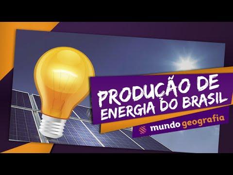 Produção de Energia do Brasil - Mundo Geografia - ENEM