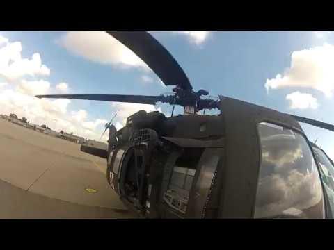 Blackhawk Startup and Takeoff Crewchief POV