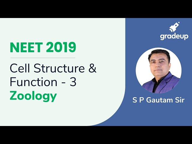 NEET Cell Structure & Function - 3 | Zoology Live Class | Boost Your Rank 2019