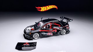 Mitsubishi Evolution 7 steering and openable All doors Hot Wheels Custom