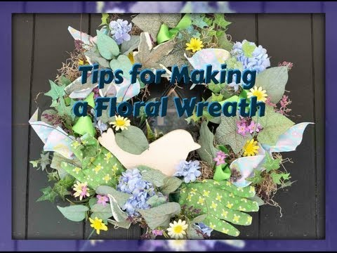 Tips To Make A Floral Wreath on Styrofoam