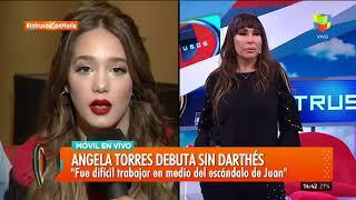 Ángela Torres, Gastón Sofriti y Agustín Casanova en