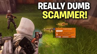 Goofy little DUMB Scammer Scams Himself! 😆 (Scammer Get Scammed) Fortnite Save The World