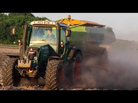 Loonbedrijf van Laarhoven- Kalk strooien  Fendt 415 vario  Amazone ZG-B 8200
