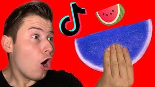 Wassermelone wird BLAU?!😱 Ich teste VIRALE TikTok Lifehacks! ZUM NACHMACHEN😍