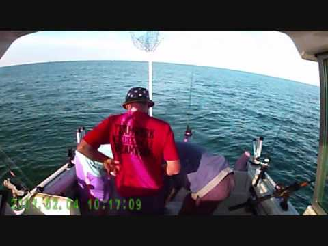 FISHING LAKE ERIE JUNE 3 2016 WITH MIKE AND KYLE