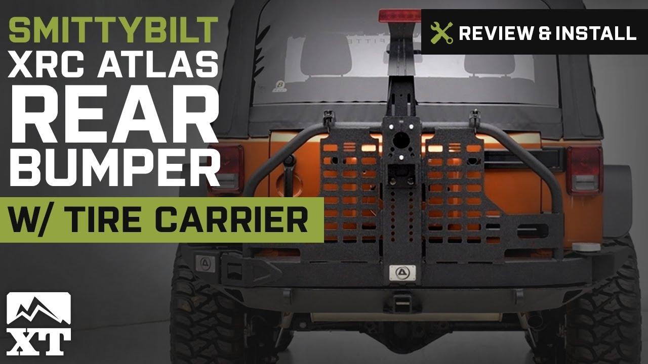 Jeep Wrangler Smittybilt XRC Atlas Rear Bumper w/ Tire ...