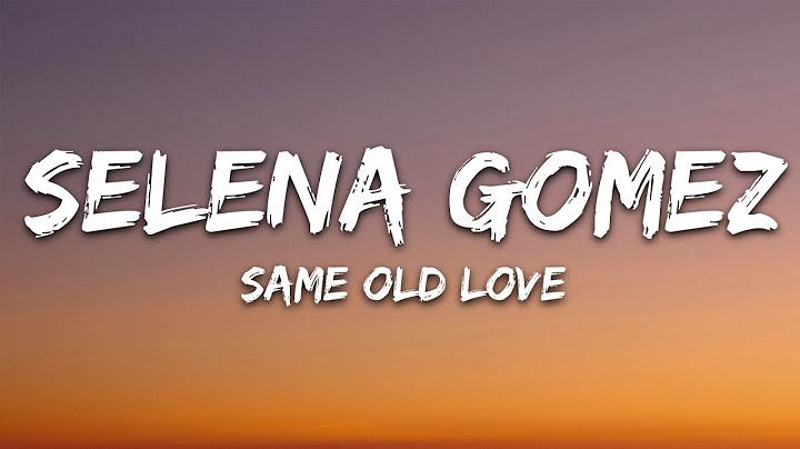 selena gomez  same old love lyrics