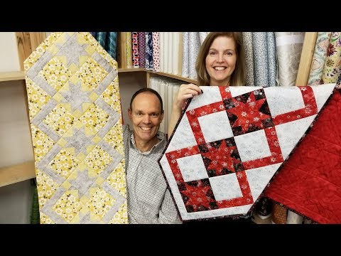 The Coziest Runner! Cozy Quilt Designs Table Runner Tutorial With Donna and Matt :)