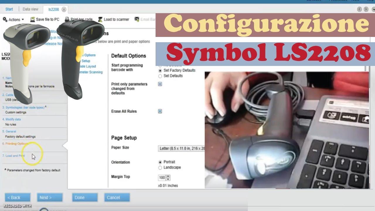 Come configurare un lettore SYMBOL O Zebra con 123Scan | ACnet IL