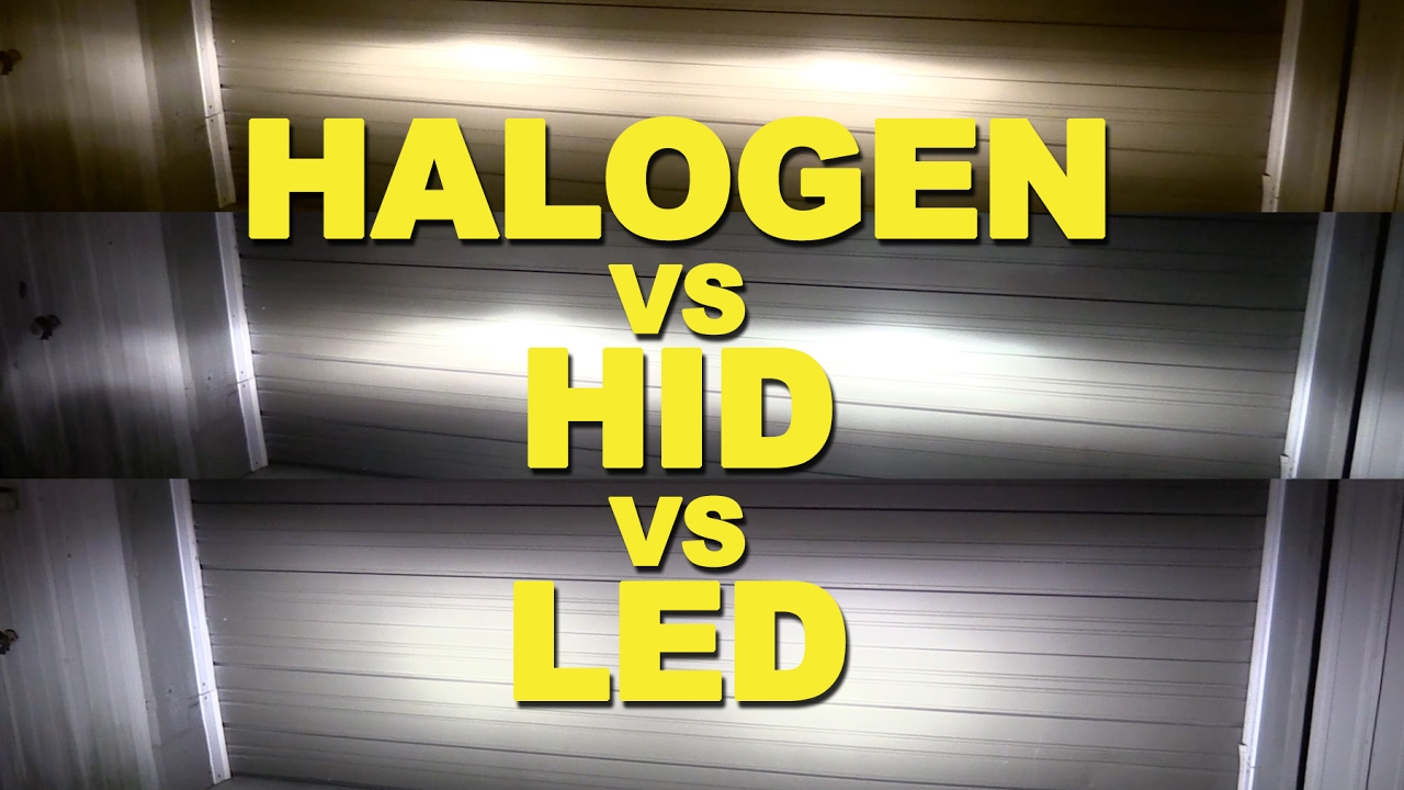 Halogen Vs Hid Led Youtube Drives 10 Leds