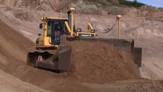 Komatsu D85PX-15 With Trimble Dual GPS Pushing Sand