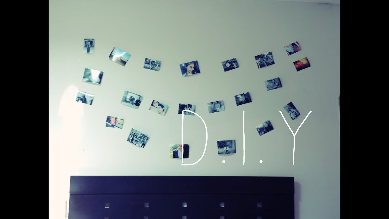 Diy c mo decorar una pared fotos youtube - Collage de fotos para pared ...