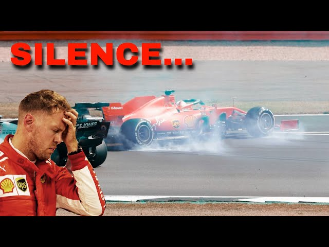 Pure SILENCE from Vettel after DRAMATIC RACE | 70TH Anniversary GP Silverstone
