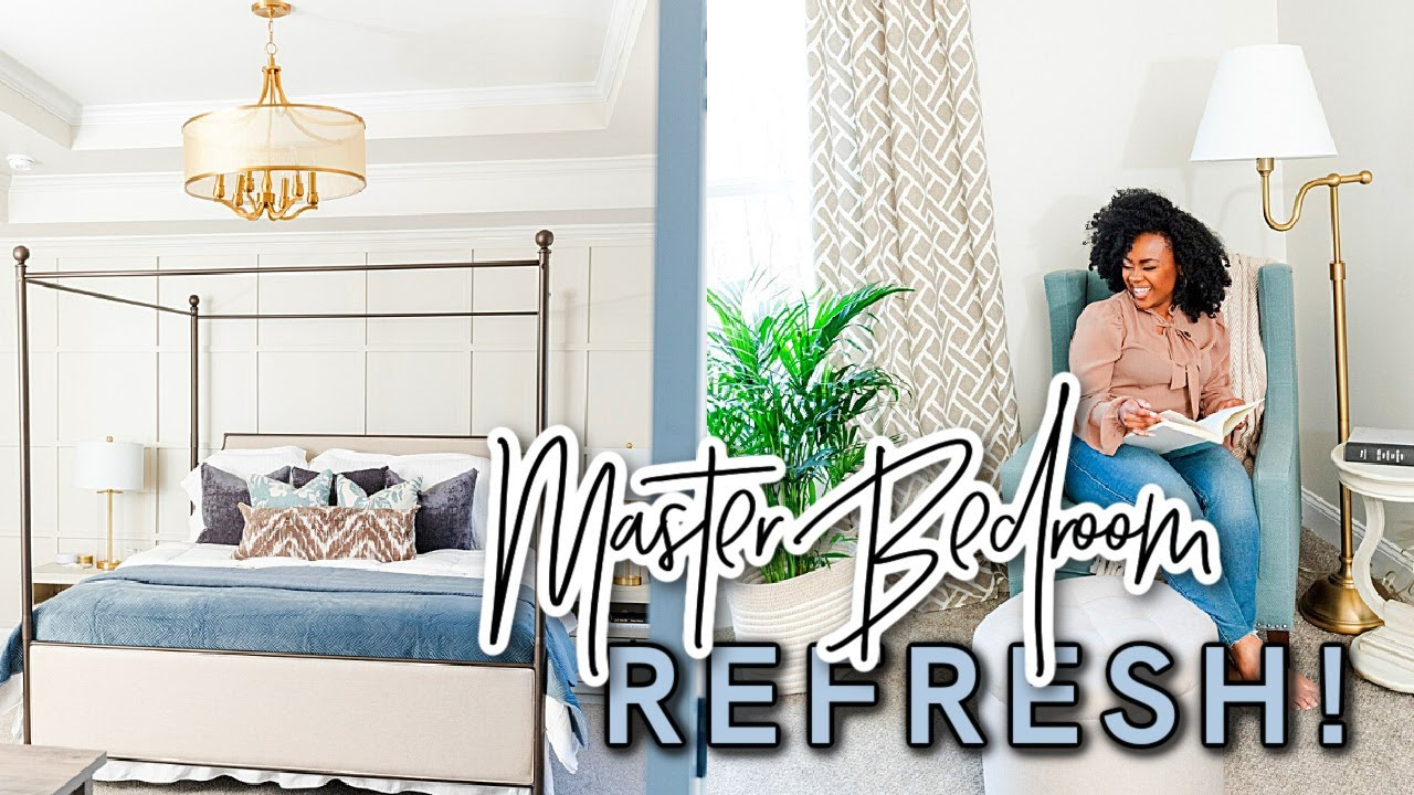BEDROOM MAKEOVER REFRESH! 2021 | New Canopy Bed & New Paint! | MASTER BEDROOM DECORATING IDEAS