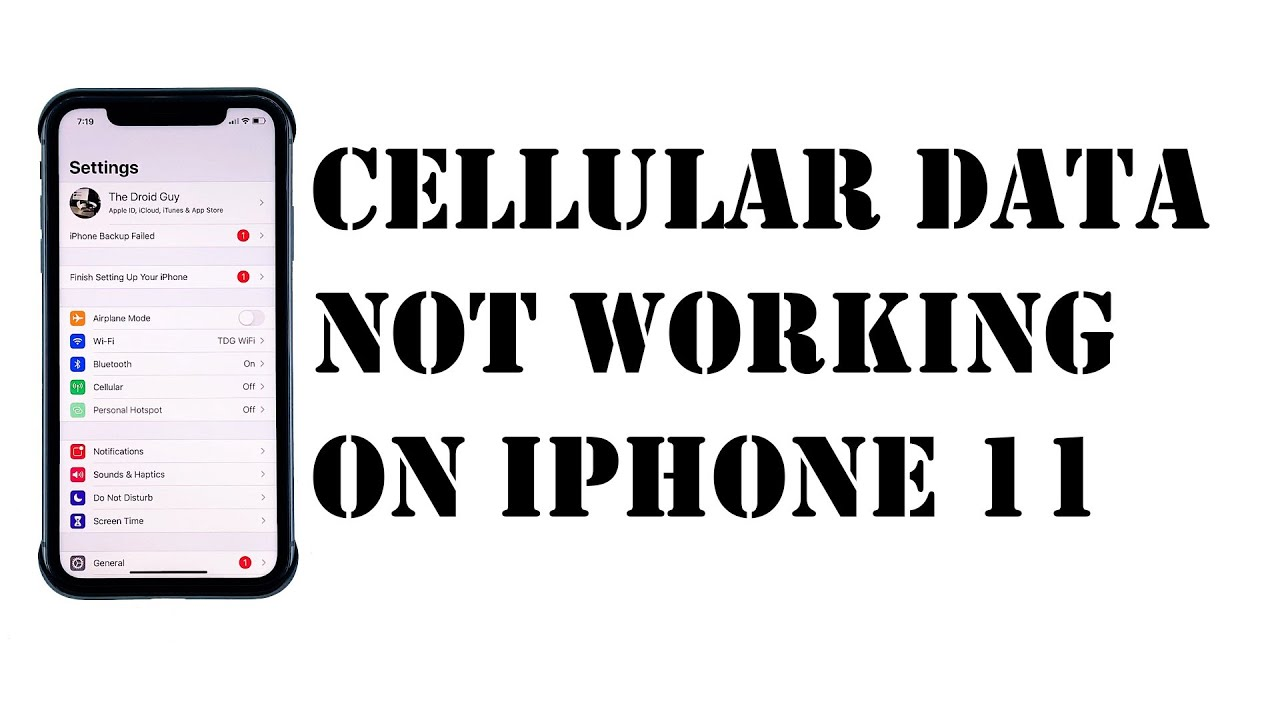 Cellular Data Not Working On iPhone 11 After iOS 13.3