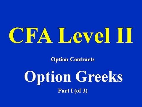 CFA Level II- Option Contracts- Option Greeks- Part I (of 3)