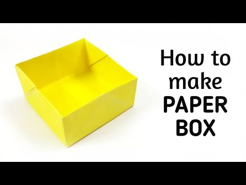 How to make an origami paper box - 1 | Origami / Paper Folding ...