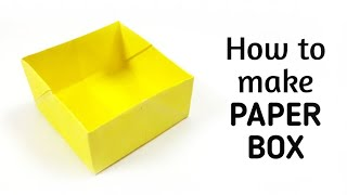 How to make an origami paper box - 2 | Origami / Paper Folding Craft, Videos and Tutorials.