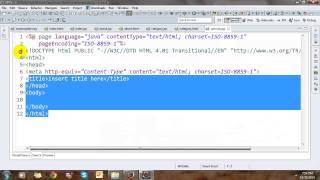 Building Flower Shop Website Template with JSP Tag File