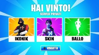🔴 SKIN IKONIK IN PALIO IN THE SERVER FORTNITE ITA 29 août 2019 CODE -9OD-FABRYH