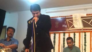 Shuvro Dev performing at IGCC, HCI, Dhaka