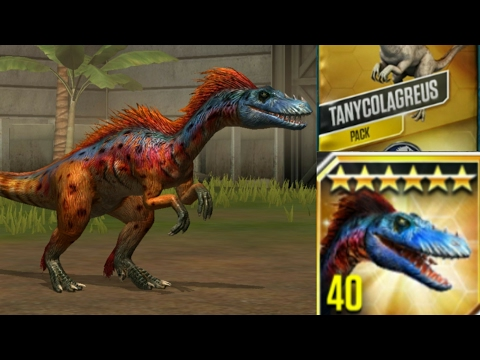 Tanycolagreus max level 40+card pack  Jurassic World the Game