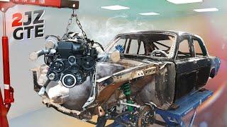BMW не пережила дрифт-челлендж? Волга КГБ вновь разобрана?