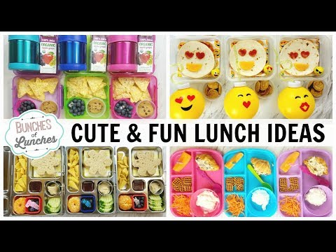 CUTE and FUN LUNCHBOX Ideas | Bunches Of Lunches + What They Ate
