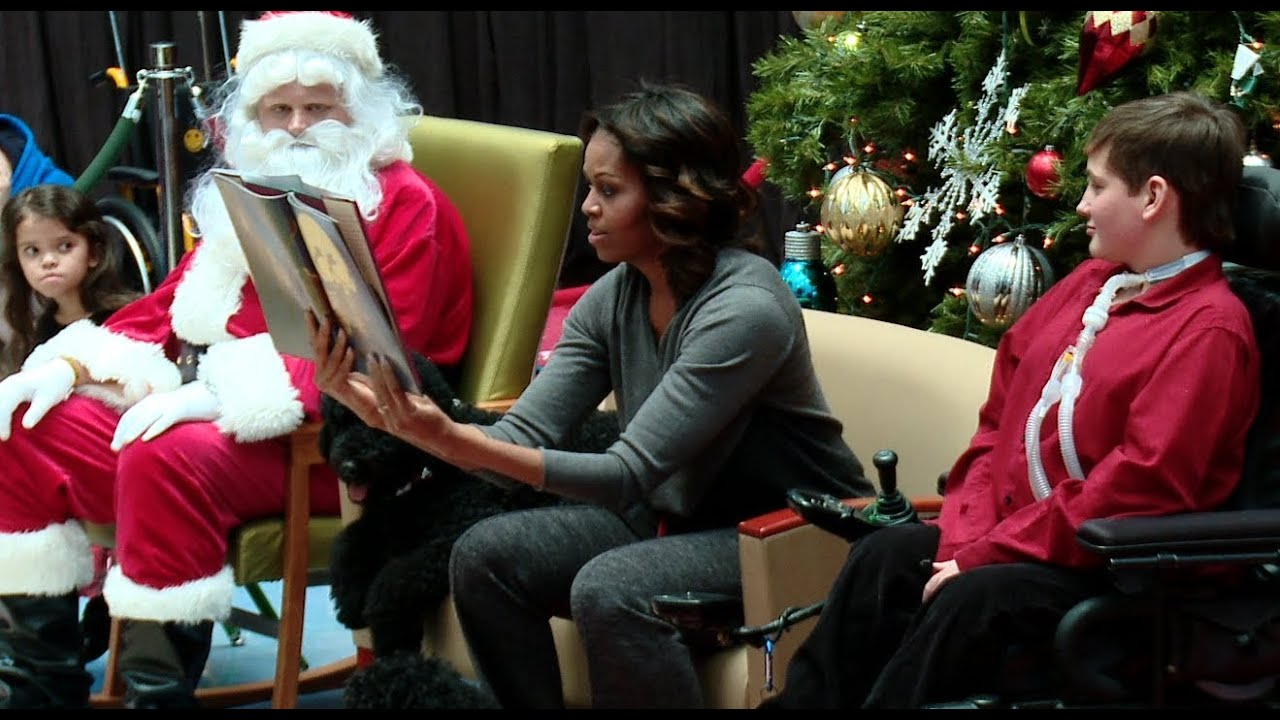 "First Lady Michelle Obama Reads ""The Night Before ..."