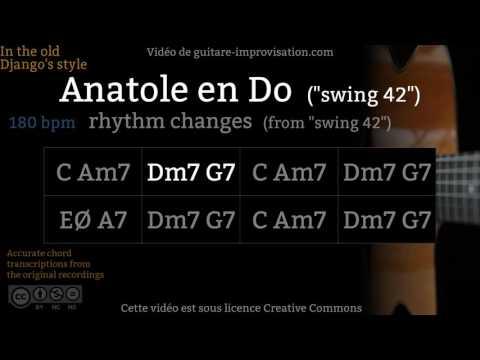 Swing 42 : A section, anatole en Do (180 bpm) - Gypsy jazz Backing track / Jazz manouche