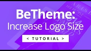 BeTheme - Increasing Logo Size + Menu Height
