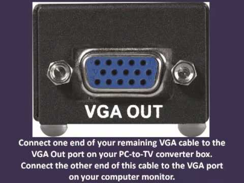 How to Convert VGA to TV Out - VGA to TV Converter Tutorials - YouTube