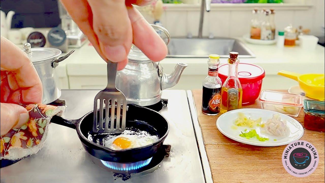 NASI GORENG INDONESIAN FRIED RICE   MINIATURE COOKING BY MINIATURE CUSINA   ASMR FOOD