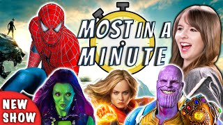 Download Who Can Name The Most Marvel Movies In A Minute? | Most In A Minute (REACT) Mp3 and Videos