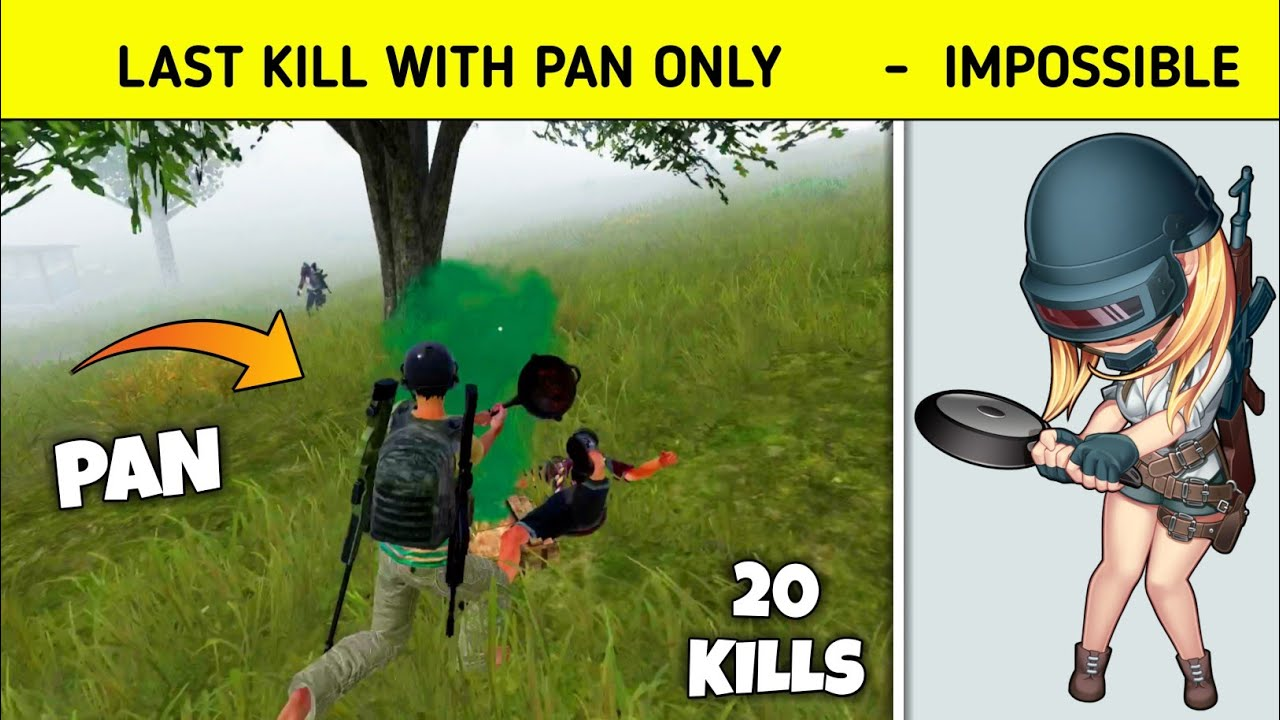Kill Last Enemy with Pan in Pubg Mobile Korean version - G Guruji