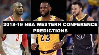 2018-19 NBA Western Conference Predictions