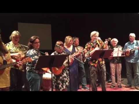 Peter Meuse Ukulele with Smoldering Uke Band