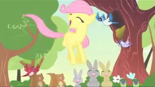 Young Fluttershy has a sparta awesome remix