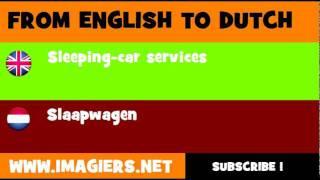 NEDERLANDS = ENGELS = Slaapwagen