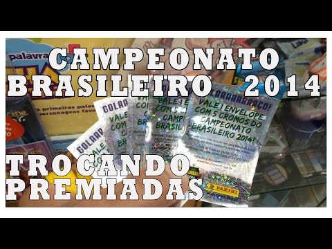 Trocando as figurinhas Premiadas do Brasileirão 2014 álbum cromos Campeonato Brasileiro Panini